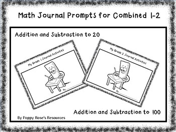 Math Writing for Combined 1-2  Addition and Subtraction