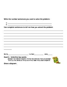 Math Written Response - Journal entries