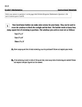 Math Written Response Practice
