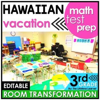 Math Year End Test Prep - Hawaii Real World Math Activity | TpT