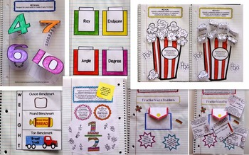 Math - Interactive Notebooks and Math Station Booklets Bundle / 4th Gr. Yearlong