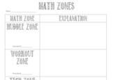 Math Zones Template (Math Stations)