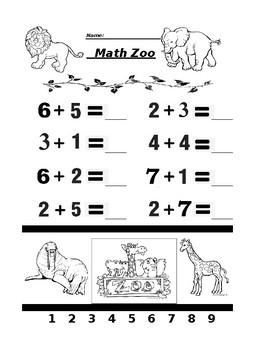 Math Zoo Adding 2
