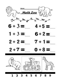 Math Zoo Addition 3