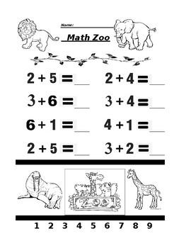 Math Zoo Addition Free