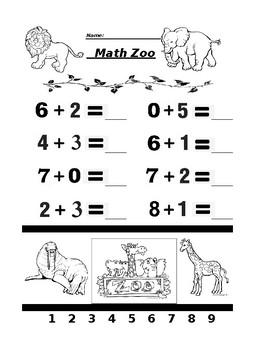 Math Zoo Addition 4