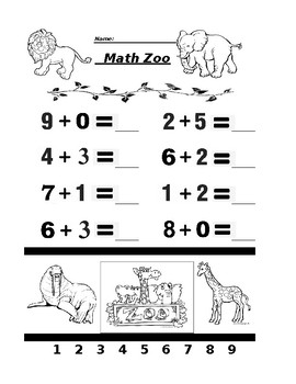 Math Zoo Addition 5