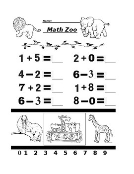 Math Zoo Addition and Subtraction 2