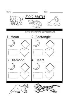 Math Zoo Basic Shapes 1 & 2