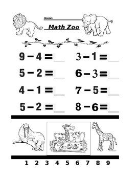 Math Zoo Subtraction 4