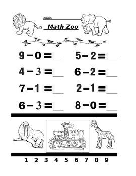 Math Zoo Subtraction