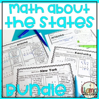 Math about All 50 States Bundle