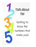 Math about Me, The Numbers that Make you!
