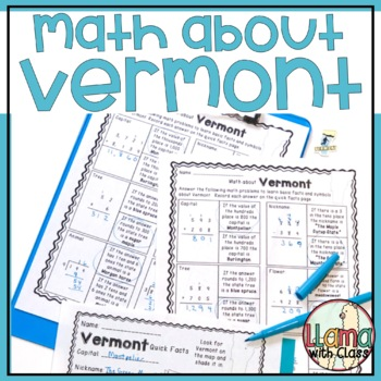 Math about Vermont State Symbols