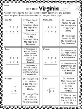 Math about Virginia State Symbols