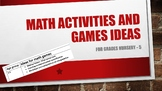 Math activities and games ideas