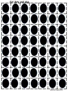 Math activities for 10 black dots