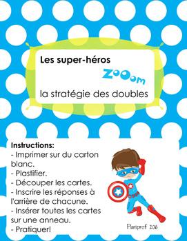Math - additions (stratégie des doubles) avec les super-héros