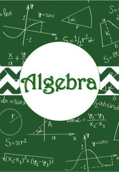 Math and Algebra Binder Cover