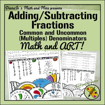 Math and Art! Adding and Subtracting Fractions