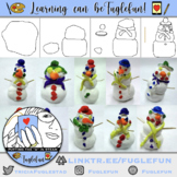 Math and Art Clay Snowman PPT with tutorial for Kindergarten