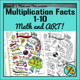 Math and Art! Multiplication Facts 1-10