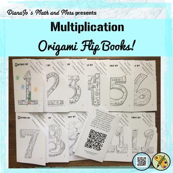 Multiplication Worksheet Flip Books for Numbers 1-12
