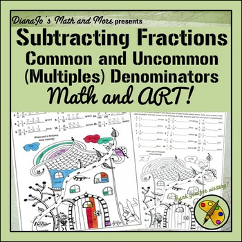 Math and Art! Subtracting Fractions