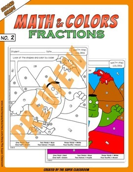 Math and Colors – 002 – Fractions - 2nd grade - Common Core Aligned - Fractions