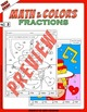Math and Colors – 003 – Fractions - 3rd grade - Common Core Aligned
