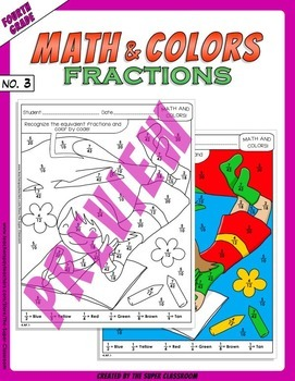 Math and Colors – 003 – Fractions - 4th grade - Common Core Aligned