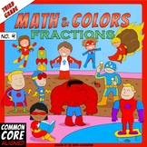 Math and Colors – 004 – Fractions - 3rd grade - Common Core Aligned