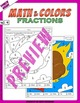 Math and Colors – 004 – Fractions - 4th grade - Common Core Aligned