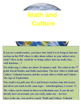 Math and Culture Videos