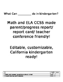 Math and ELA CCSS checklist made friendly