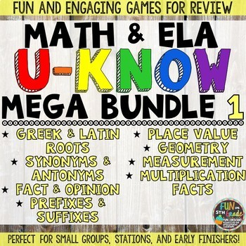 Math and ELA Games MEGA Bundle 1: U-Know