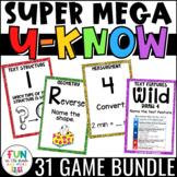 Math and ELA Games SUPER MEGA Bundle   U-Know Review Games #upperelementarydeals