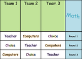 Math and ELA / Literacy Centers / Small Group Rotation Boards - Editable