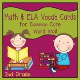 Math and ELA Vocabulary Cards (2nd Grade Common Core)