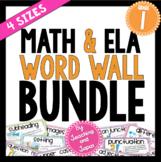 Math and ELA Word Wall BUNDLE (1st Grade)