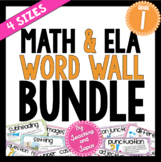 Math and ELA Word Wall BUNDLE (1st Grade)