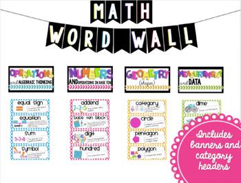 Math and ELA Word Wall BUNDLE (2nd Grade)