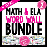 Math and ELA Word Wall BUNDLE (2nd Grade)