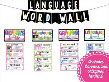 Math and ELA Word Wall BUNDLE (3rd Grade)