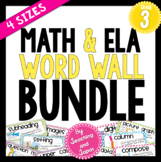 Math and ELA Word Wall BUNDLE (3rd Grade)