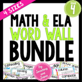Math and ELA Word Wall BUNDLE (4th Grade)