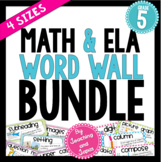 Math and ELA Word Wall BUNDLE (5th Grade)
