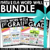 Math and ELA Word Wall Bundle 1st Grade