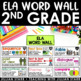 Math and ELA Word Wall Bundle 2nd Grade