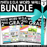 Math and ELA Word Wall Bundle 2nd Grade